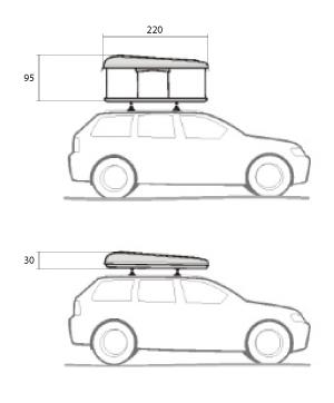 nomadup tente de toit dimensions
